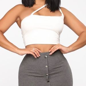 Cross Your Path Crop Top NWT Size M